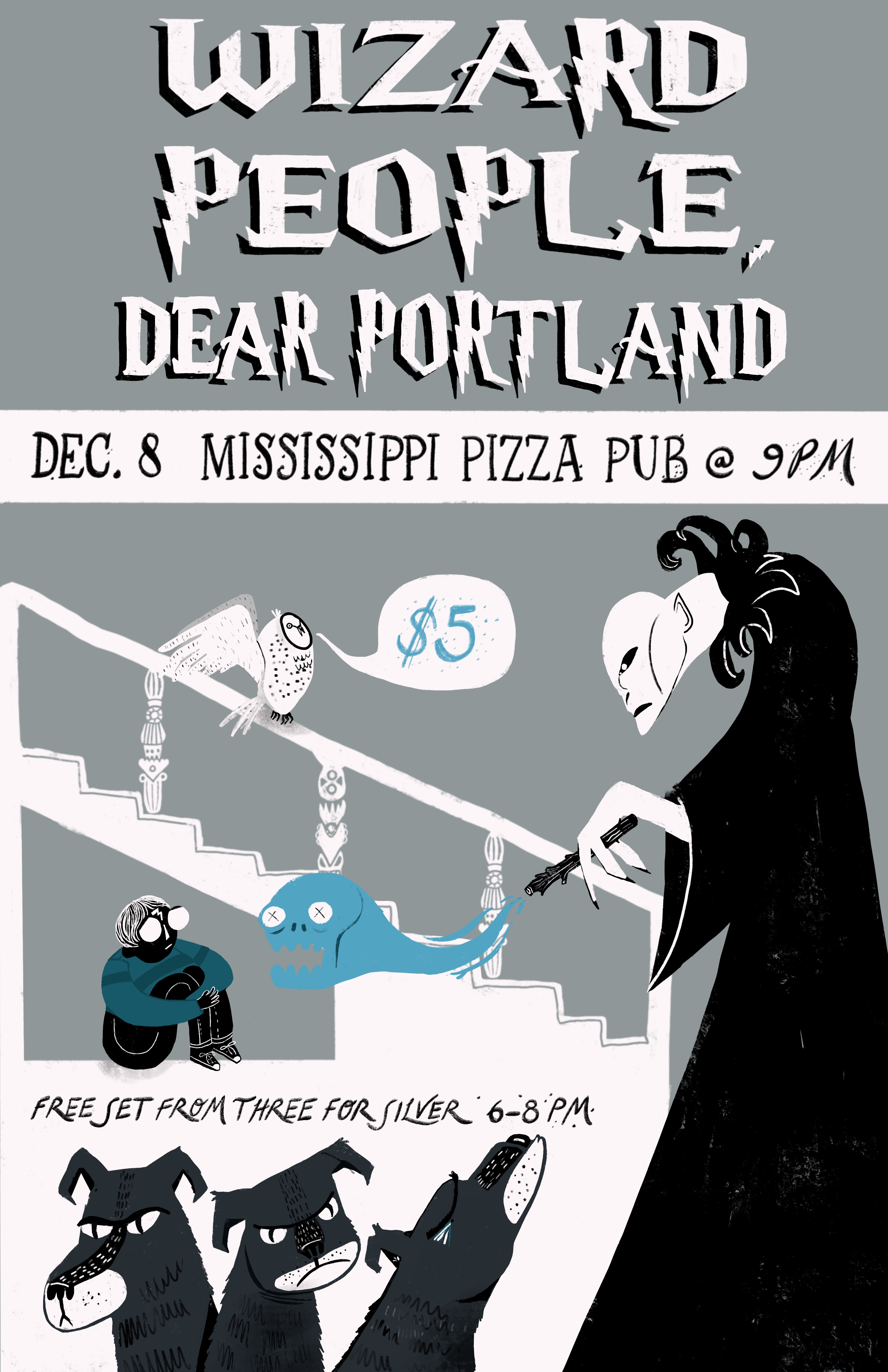 Wizard People, Dear Portland with 3 for Silver & Human Ottoman